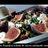 salade de roquefort et fruits de saison, vinaigrette poire
