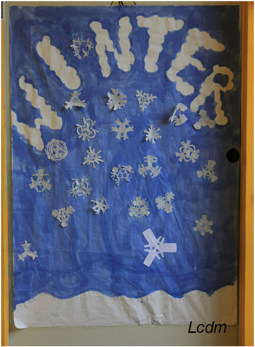 Les CM1 nous rappellent que c'est l'hiver !