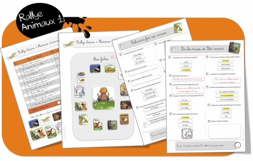Rallyes lecture animaux 1 et 2