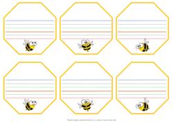 Etiquettes prénom CP thème abeille
