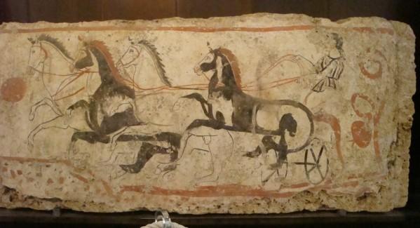 Paestum, tombe peinte d'époque lucanienne 4