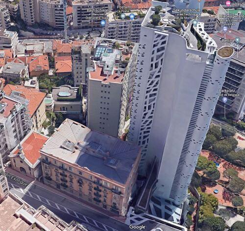 Monaco - Temple Antoiniste et Tour Simona (GoogleMaps).JPG