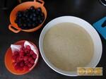 Crumb cake aux myrtilles & framboises