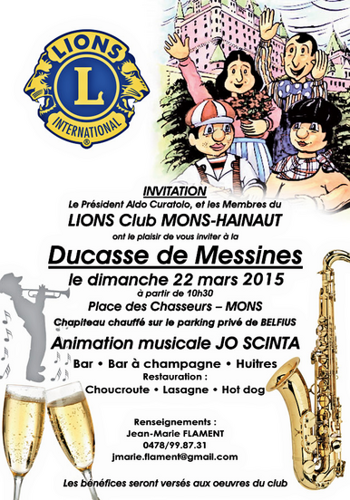 Lions Club, Mons Hainaut,oeuvres sociales, benefices, activités,club service, zone 62 ,112D, be