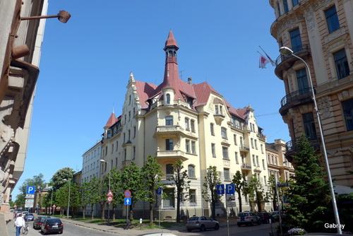 Riga (Lettonie) : décorations des façades ... n 6