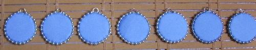 Boucles d'oreilles country réalisées en tissus