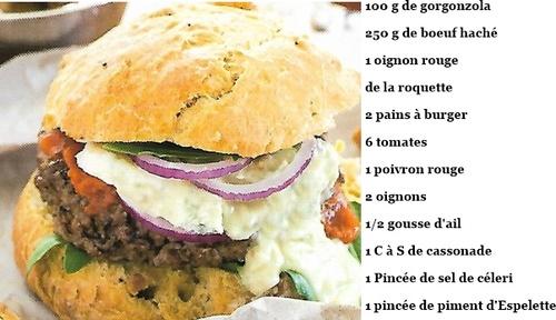 Burger au Gorgonzola