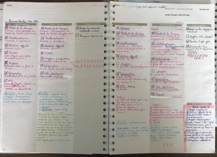 Ecobook'Prof : agenda 2020-2021