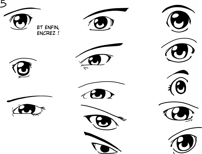 comment dessiner des yeux de manga facilement