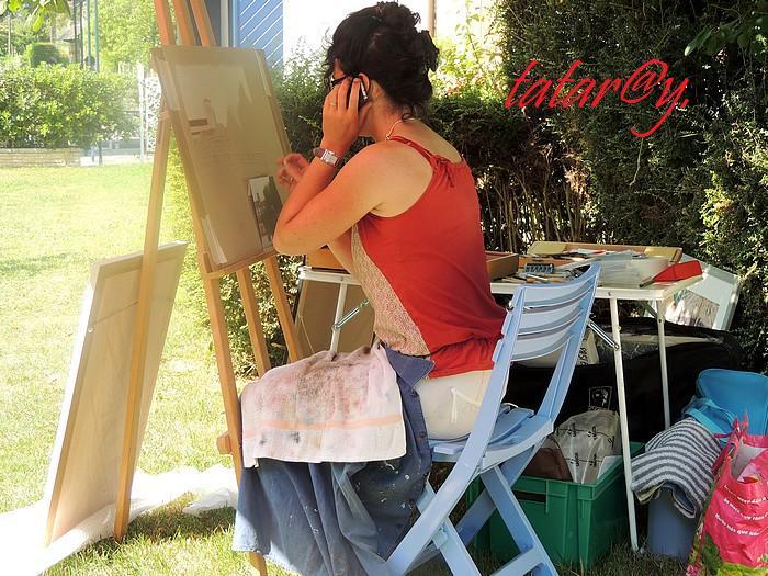 Festival de peinture à Magné.