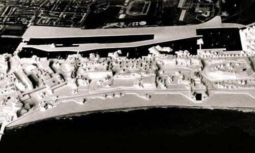 Calais : une station balnéaire loin de la maquette d'origine, en 1968