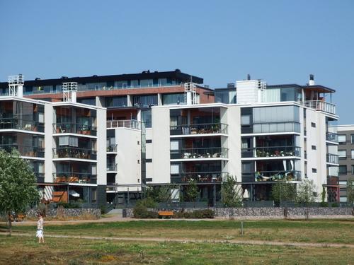 Helsinki: le quartier d' Arabianta.