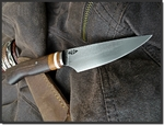 Petit fixe carbone de Michel Jean (JM knives)...