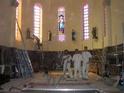 chantier peinture à la chapelle - samedi 25 juillet