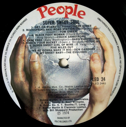 "Various Artists : "" Super Sweet Soul "" People Records PLEO 24 [ UK ]"