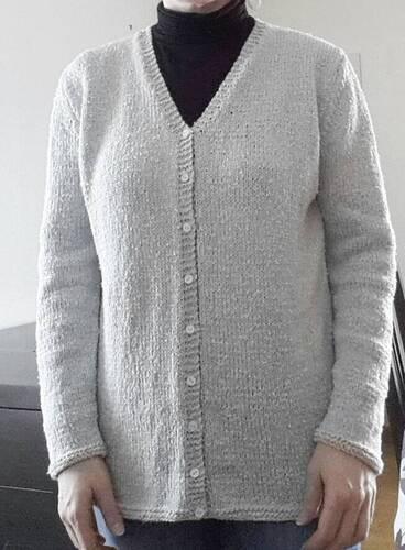 Tricoter un gilet long adulte en laine Chérie Bergère de France
