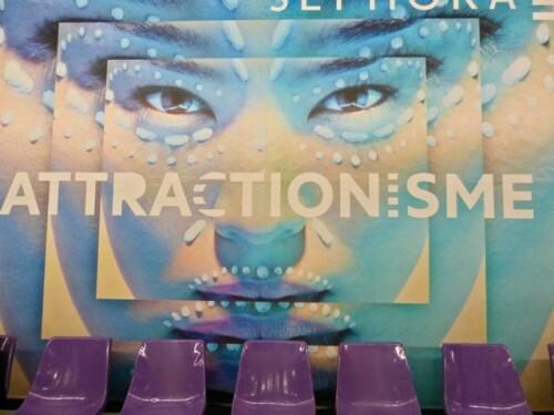 Sephora affiche jeu mots attractionisme