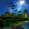 La pleine lune à Londres