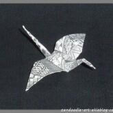 Origami zendoodle : la grue traditionnelle