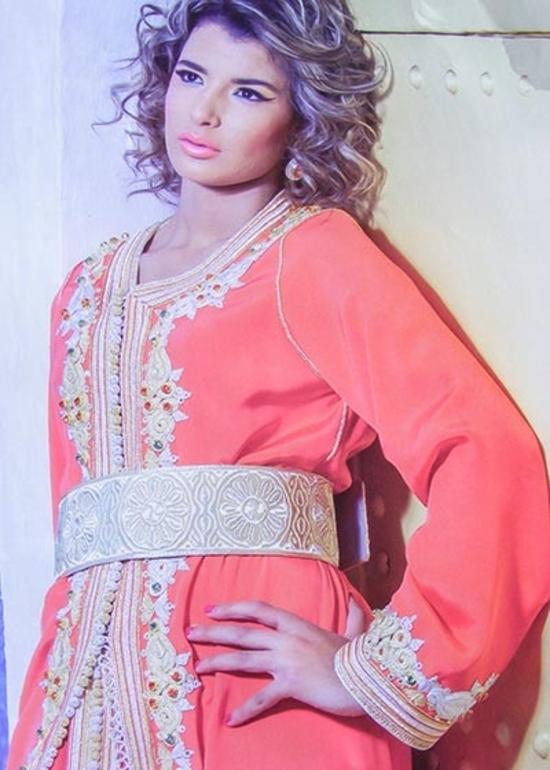 Takchita-marocain-rouge de la collection 2015 pour soirée marocaine glamour-TAK-S891a