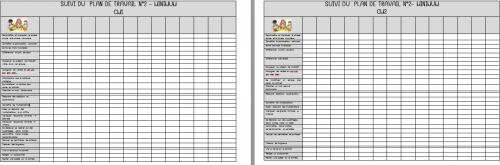 PMEV : grilles de suivi des plans de travail - CM