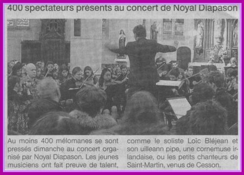 10/02/2013: OJHB, Loïc BLEJEAN,les petits chanteurs St Martin