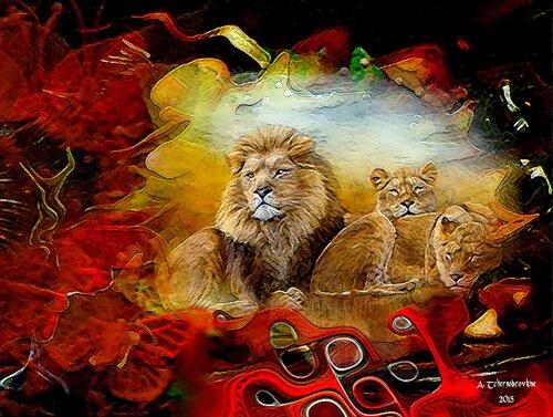La grotte aux lions