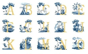 "Alphabet ""jaune-bleu"" 3."