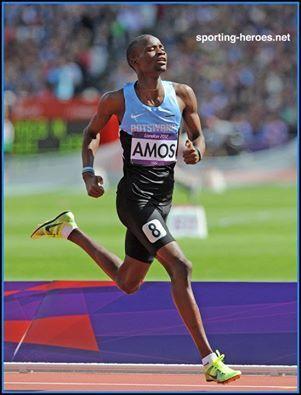 RESULTS OF THE IAAF Diamond League Herculis Monaco 18th July 2014 MEN  800m RANK ATHLETE NATION RESULT 1 AMOS Nijel BOT 1:42.45 WL,MR 2 BOSSE Pierre-Ambroise FRA 1:42.53 NR 3 AMAN Mohammed ETH 1:42.83 SB 4 CHERUIYOT Ferguson Rotich KEN 1:42.84 PB 5 RUDISHA David KEN 1:42.98 SB 6 LEWANDOWSKI Marcin POL 1:44.24 SB 7 ROWE Alexander AUS 1:44.40 =NR 8 OSAGIE Andrew GBR 1:45.68 9 KAKI Abubaker SUD 1:46.90  SOLOMON Duane USA DNF   TANGUI Sammy KEN DNF Intermediate times: 400m TANGUI, Sammy (KEN) 49.41 600m RUDISHA, David (KEN) 1:15.85