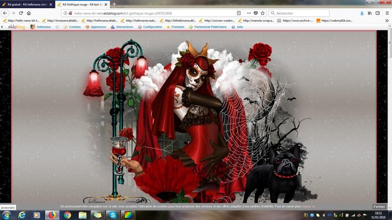 Kit Gothique rouge