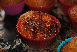 Muffins au caramel et éclat de nougatine