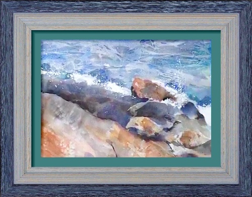 Dessin et peinture - vidéo 25 : Comment peindre des rochers par des jeux de texture - aquarelle.