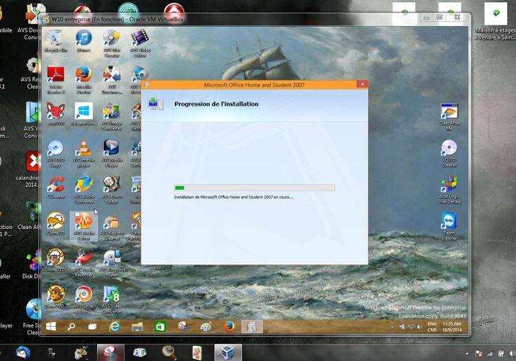 Windows 10 en virtuel comment installer des programmes