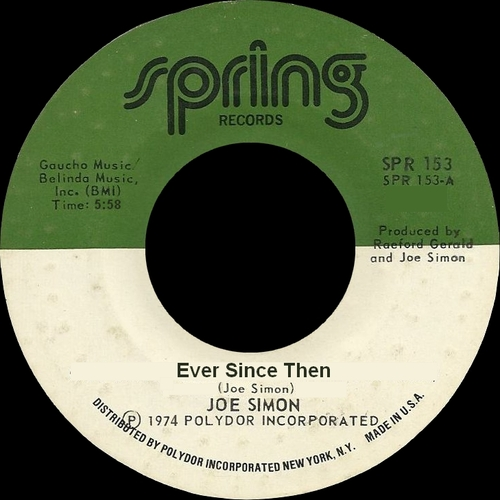 "Joe Simon : Album "" The Power Of Joe Simon "" Spring Records SPR 5704 [ US ]"