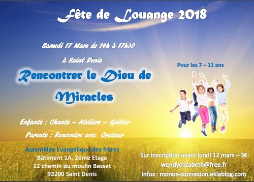 Fête de Louange - 17 Mars 2018