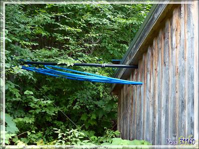 Installation de récupération d'eau d'érable dans une érablière - Petit Lac Preston - Duhamel - Outaouais - Québec - Canada