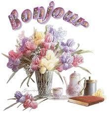 bonjour fleurs bouquet