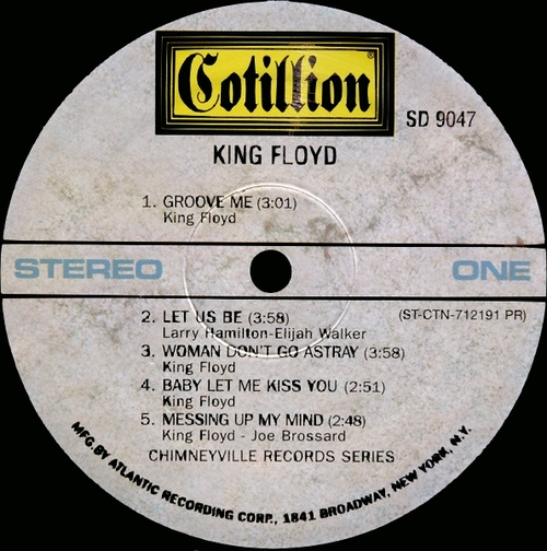 "King Floyd : Album "" King Floyd "" Cotillion Chimneyville Records SD 9047 [ US ]"