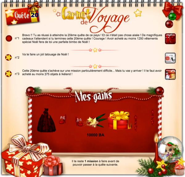 Quêtes Noël de 11 à 20