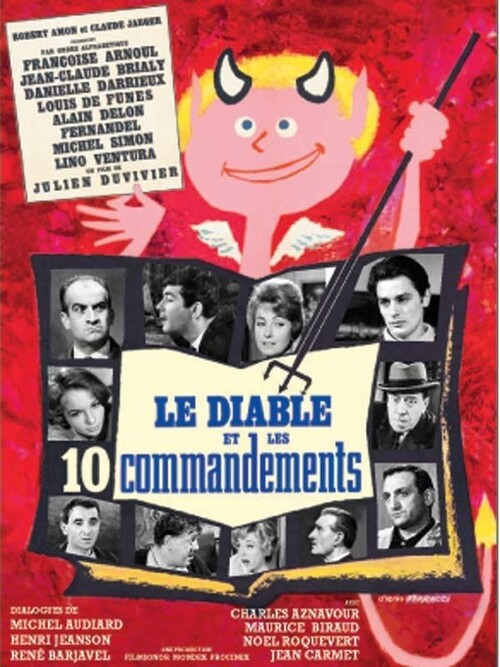 LE DIABLE ET LES 10 COMMANDEMENTS -  ALAIN DELON BOX OFFICE 1962
