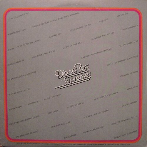 """Diana Ross & The Supremes : Album """" Anthology """" Motown Records  M9-794A3 [ US ]"""