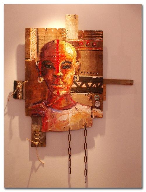 Melain Nzindou ou l'art de la recup.