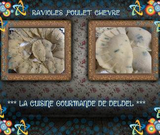 ravioles poulet ,chèvre