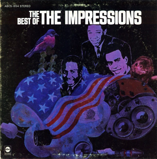 "1968 : Ajbum "" The Best Of The Impressions "" ABC Records ABCS 654 [ US ]"