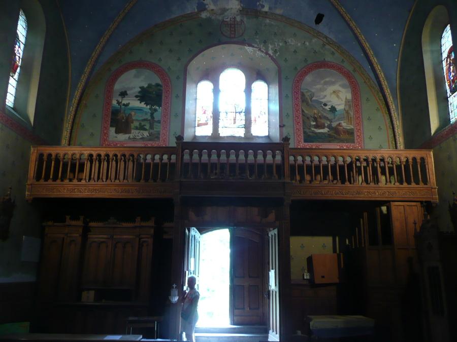 Une église à  Marc dans la haute vallée de Vicdessos.