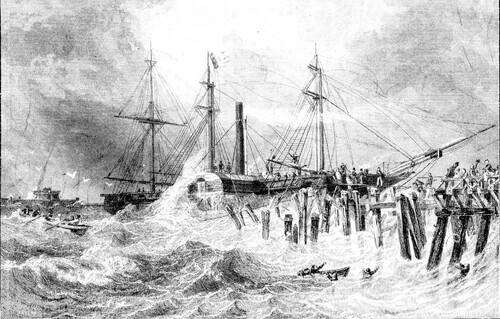 Le vapeur du roi Louis-Philippe en détresse en 1840