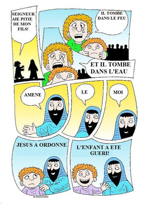 Les miracles de Jésus (en 1 page)
