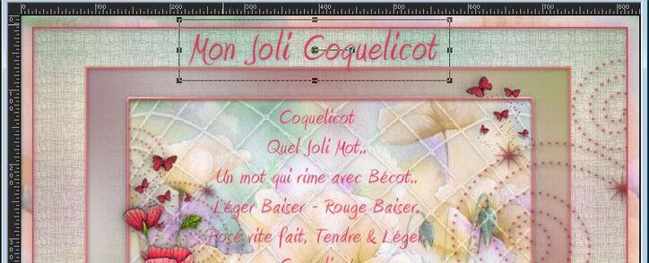 """Tutoriel """"Mon Joli Coquelicot"""""""