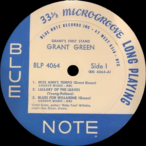 "Grant Green : Album "" Grant's First Stand "" Blue Note Records BLP 4064 [ US ]"