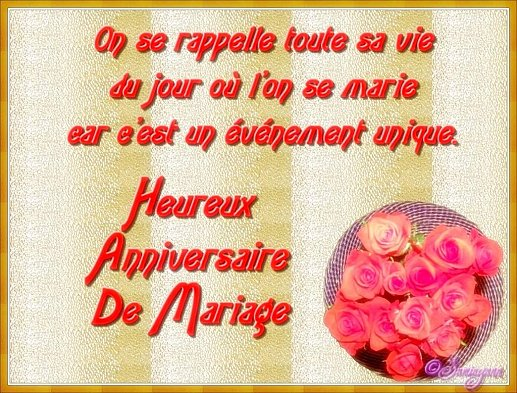 carte postale anniversaire de mariage - Cartes Virtuelles Anniversaire De Mariage